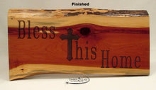 wood sign made by Timber 2 Glass,  laser engraved finished bless this home cedar sign, wood sign for home