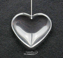 Timber 2 Glass will engrave this heart glass ornament, personalize heart ornament