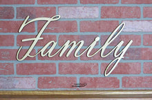family wall decor, word wall art by Timber 2 Glass, name laser engraved wall decor