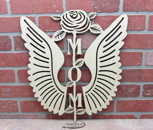 Laser cut by Timber 2 Glass, custom wall decor, Mom wall art