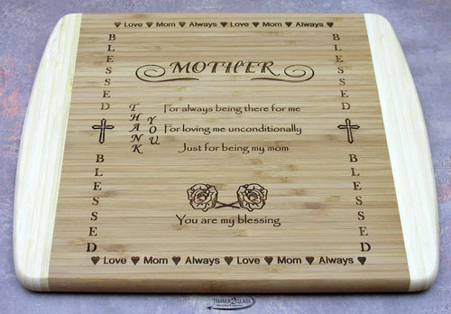 Mother Thank You cutting board, great gift idea, laser engraved mother cutting board, special gift idea, unique gift ideas, cheap gifts, daughter presents, for daughter, personalized gifts, mother gifts, mom gifts, unique gifts