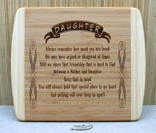 Daughter Love Cutting Board