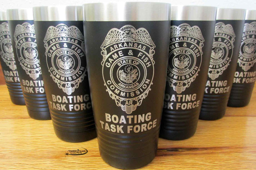 game and fish laser engraved tumblers with Timber 2 Glass, laser engraved tumblers, Polar Camel Tumblers, custom laser engraved tumblers, gift ideas, custom gift ideas