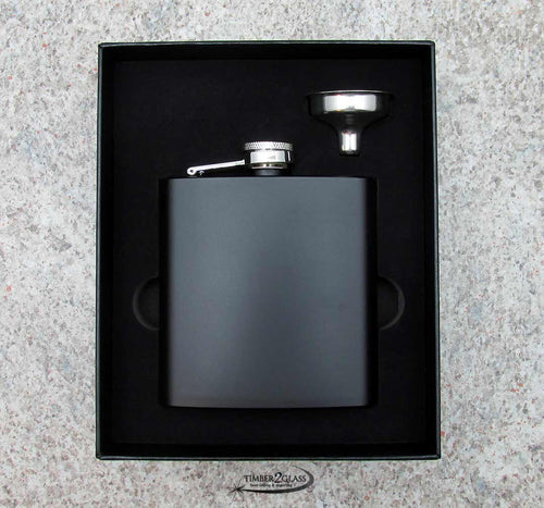 Flask Matte Black Set