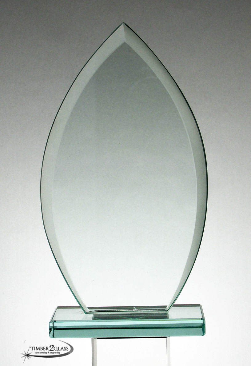 Oval Jade Glass Award 7