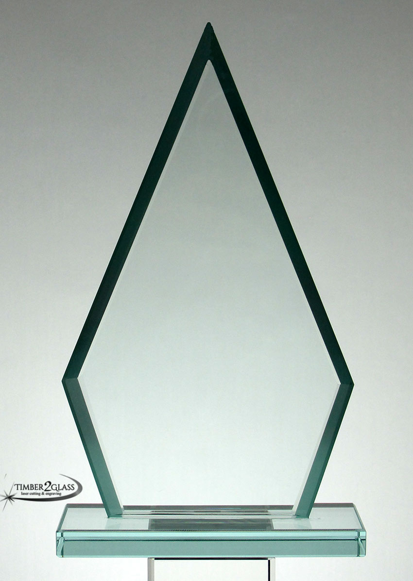 Triangle Jade Glass Award 7 1/2