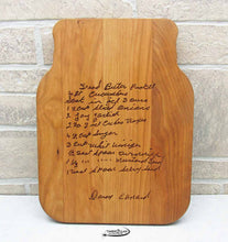 Handwritten Recipe Cutting Board