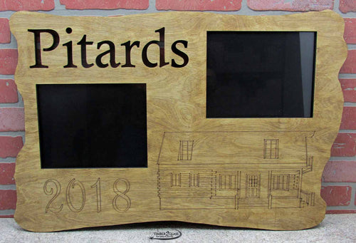 personalized wall art, laser cut and engraved family photo plaque, custom photo plaque from Timber 2 Glass, laser engraved home decor, laser engraved wall art