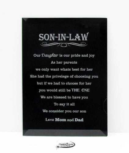 Love Son-in-Law Plaque
