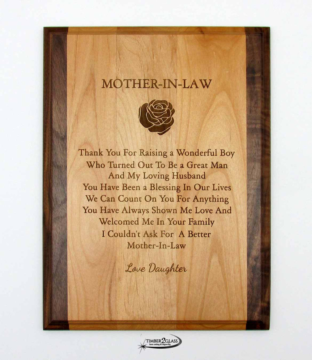 Love Mother-in-Law Plaque