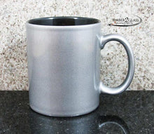 customize silver coffee cup by Timber 2 Glass, personalize coffee cup, laser engrave coffee cup