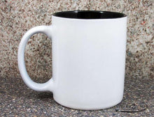 customize white coffee cup by Timber 2 Glass, personalize coffee cup, laser engrave coffee cup