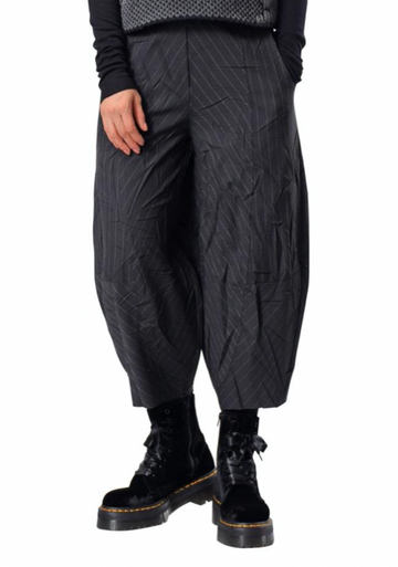 CREA CONCEPT STRIPED CRINKLE TROUSER