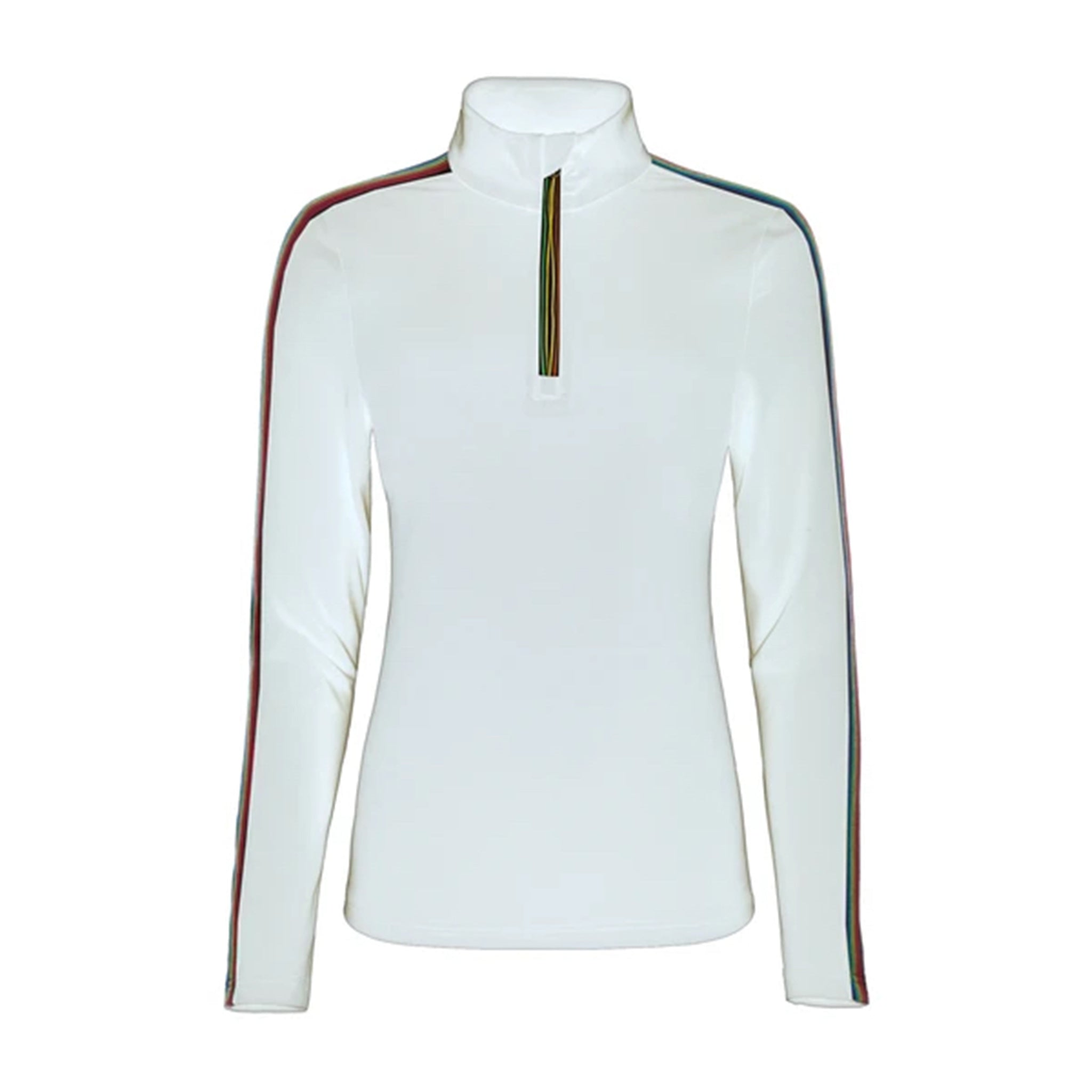 Rainbow 1/2 Zip in White