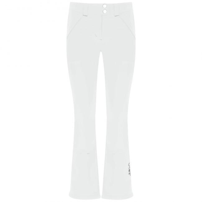 Harmony Softshell Ski Pants in White with Silver Detailing | Vist | Hatch Label