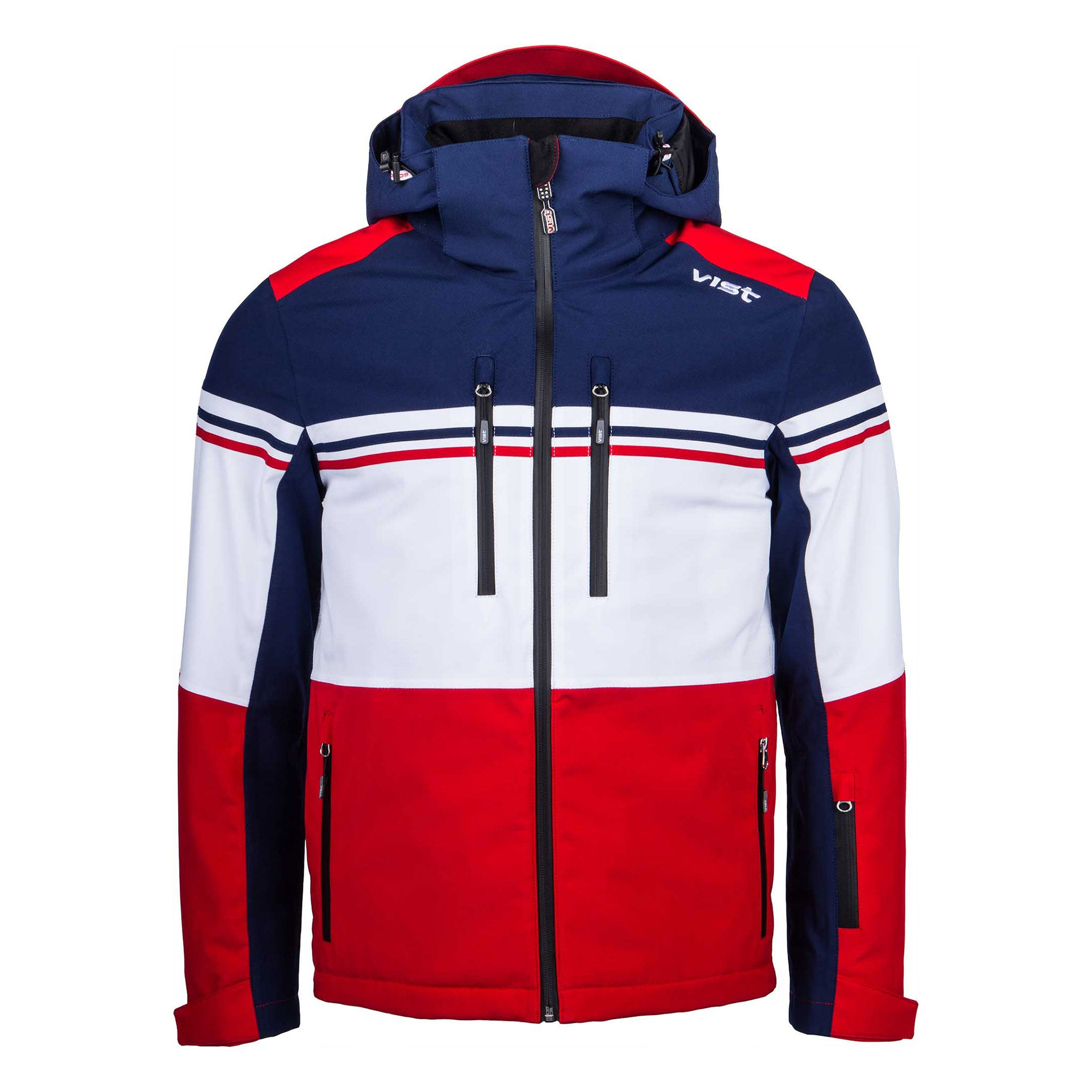 KINGMASTER DOWN SKI JACKET MAN in DEEP OCEAN-RUBY-WHITE