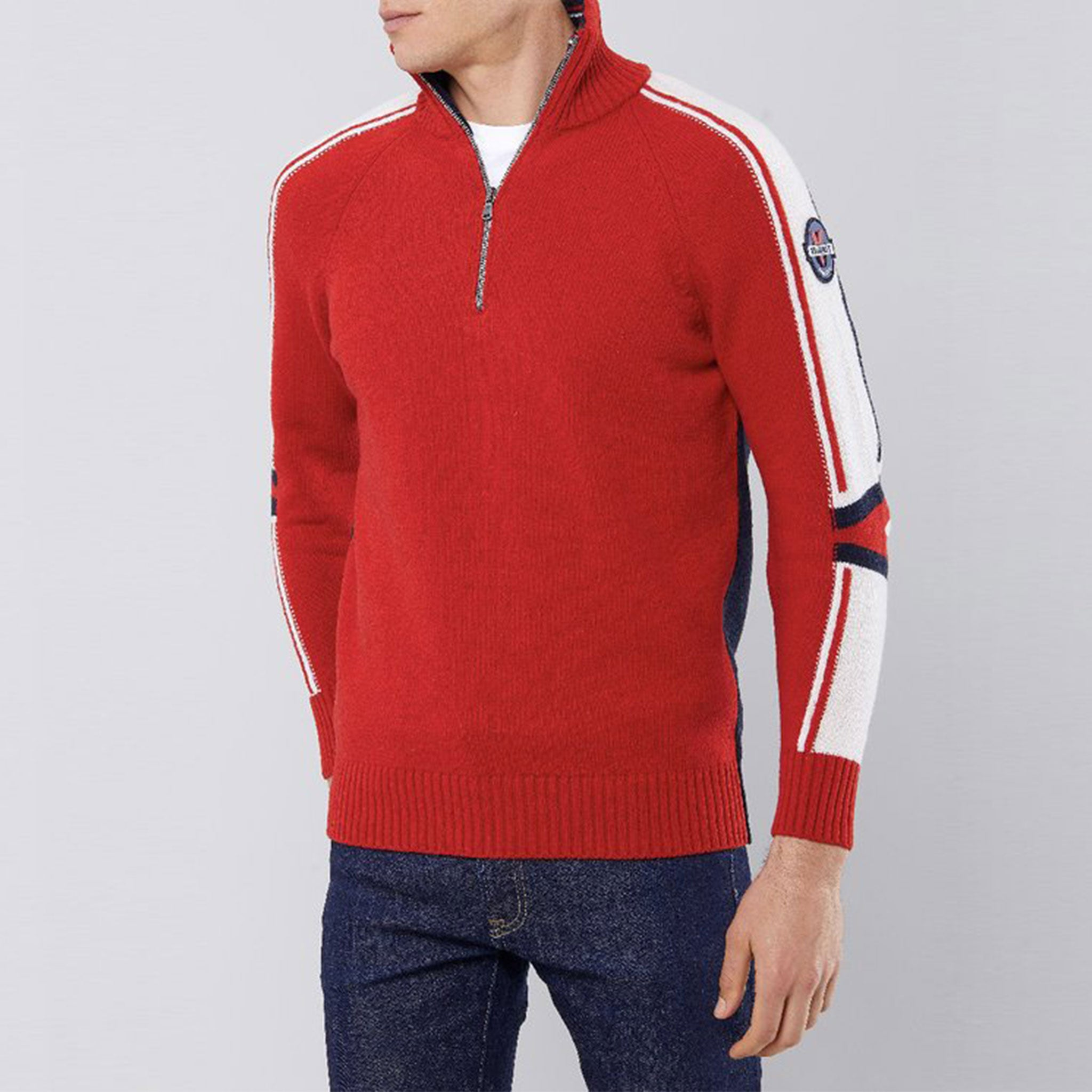 Trift Half Zip Sweater
