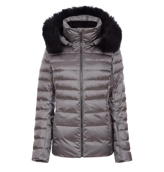 Julia Special Edition Jacket in Pewter - Faux Fur
