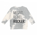 Misfit Rebel Rocker Sweatshirt Tee Toddler and Adult