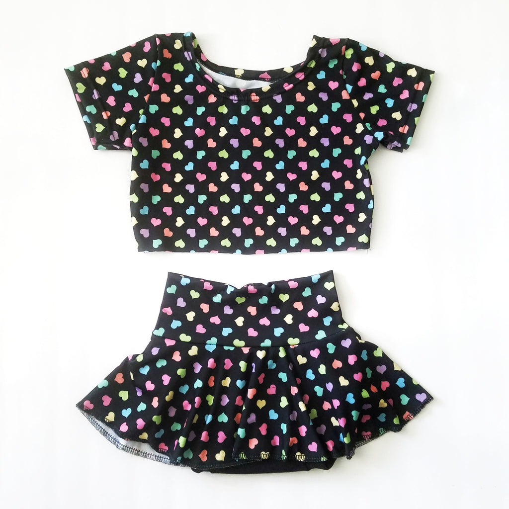Tiny Hearts Set Derby Tee Crop Harems