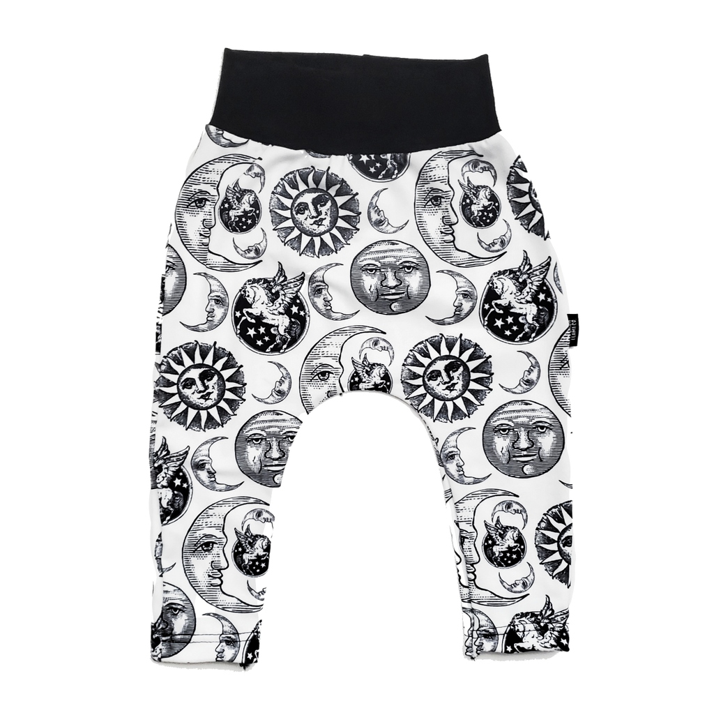 Celestial Sun and Moon Harem Pants