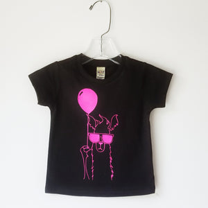 Flourescent Party Llama Tee