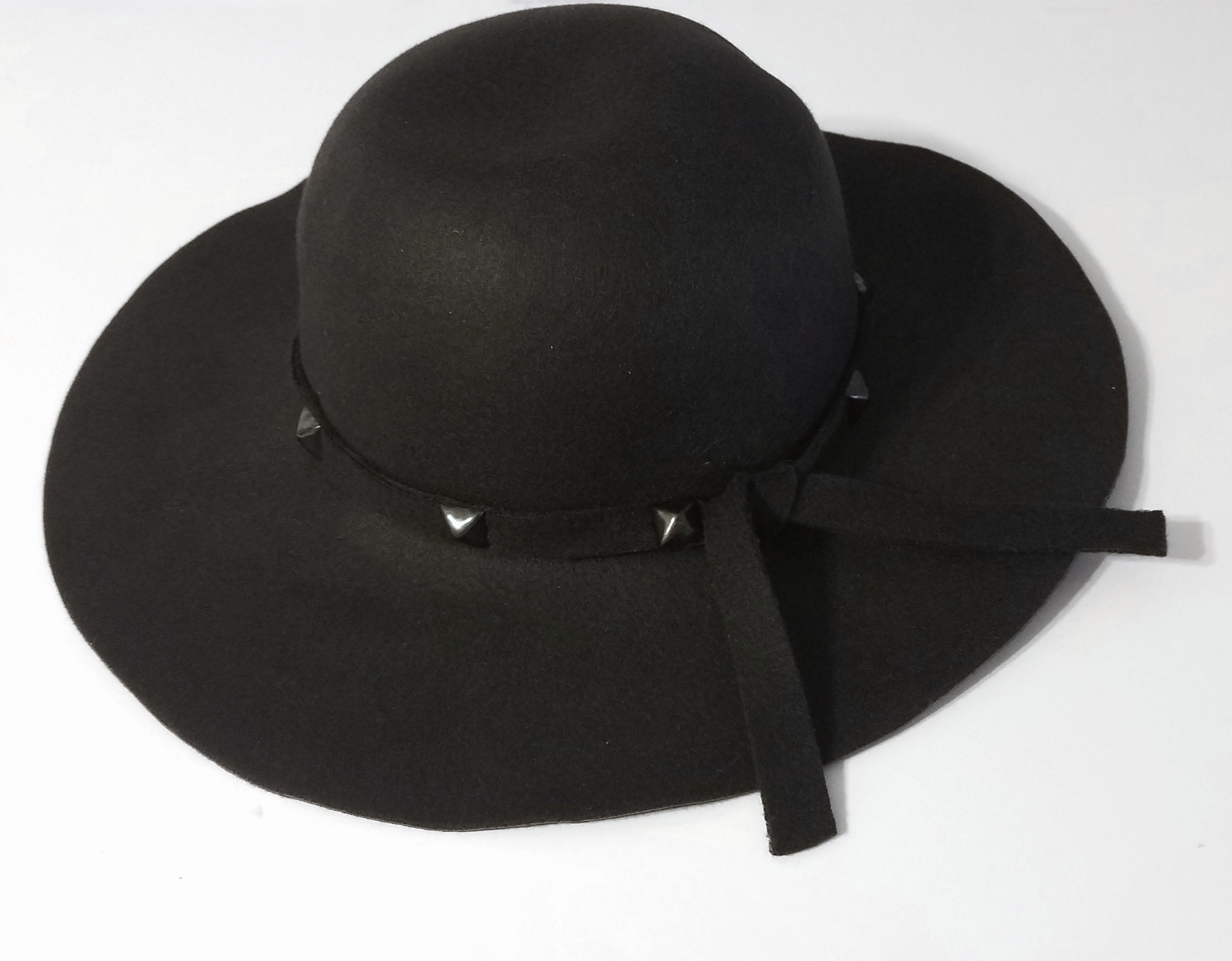 Studded Wide Brim Hat