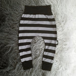 Dark Soul Harem Pants Grey Black Stripes