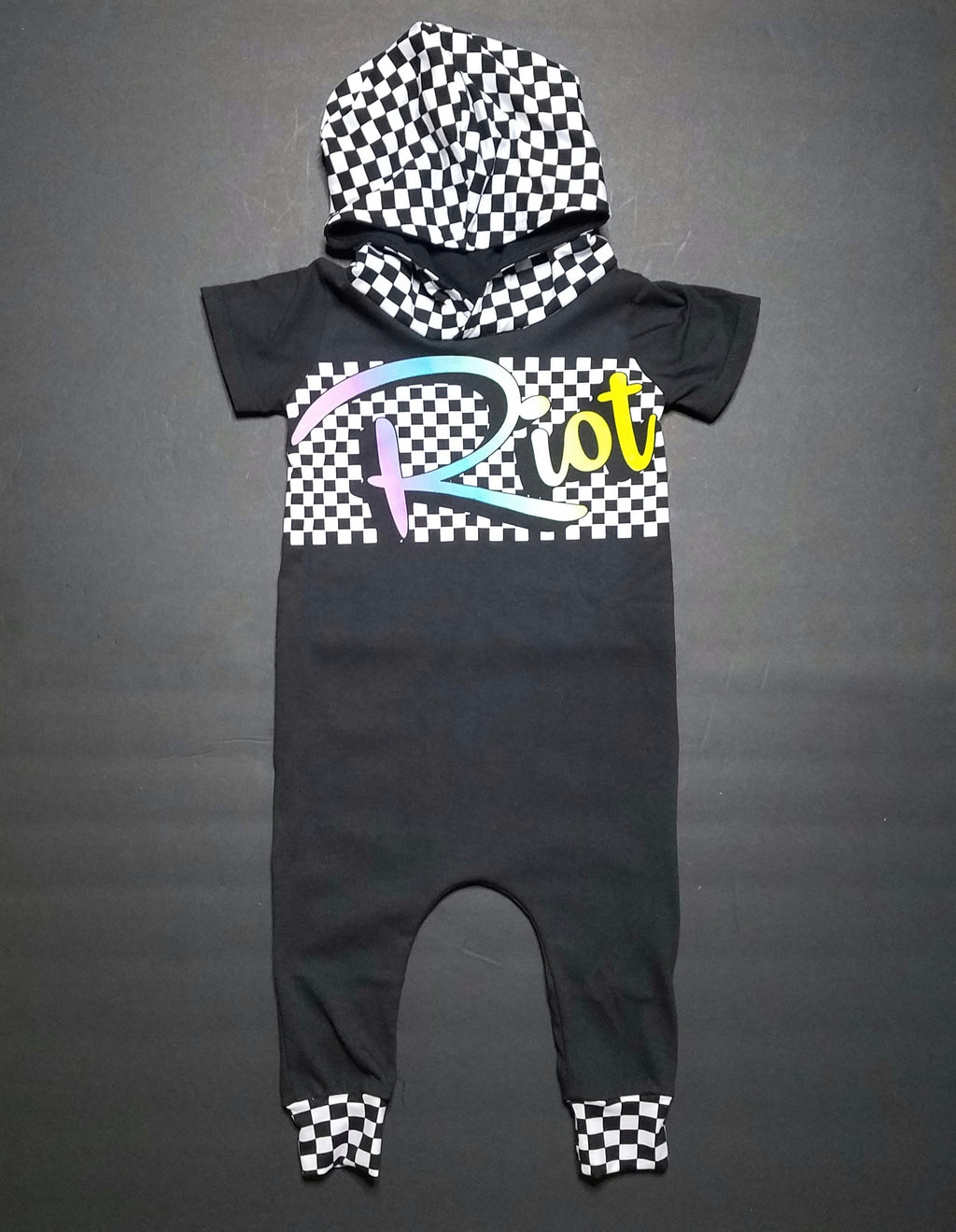 Hooded Riot Upcycle Romper, Tee or Dress