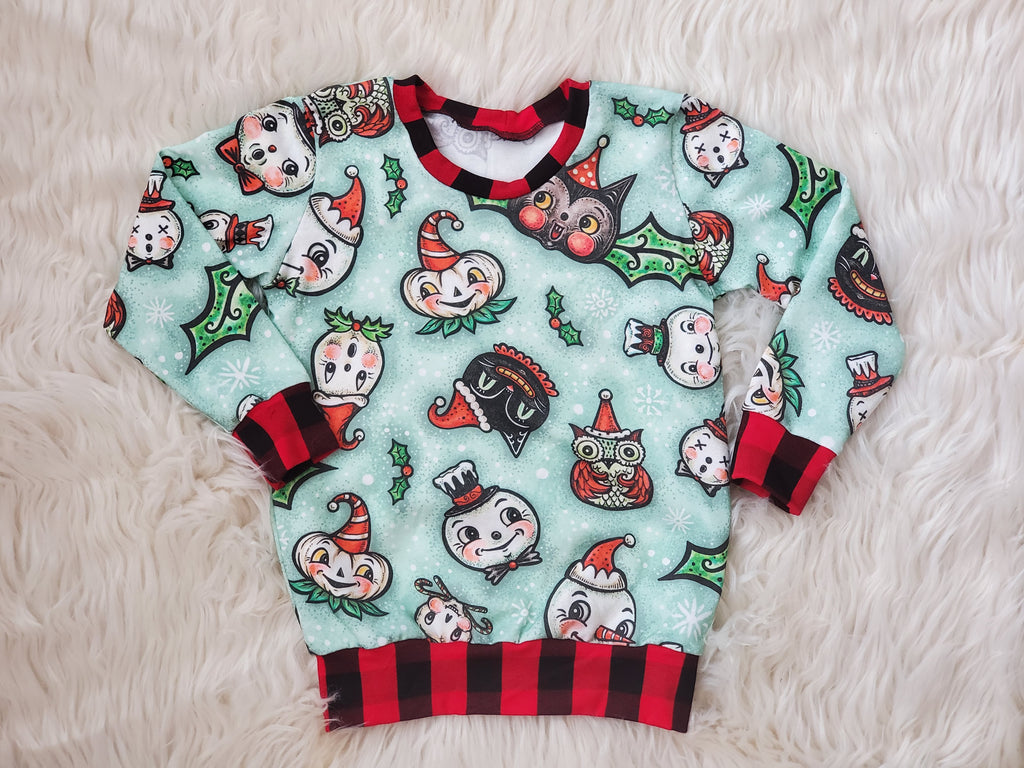 Creepy Chrismas Pullover Sweatshirt