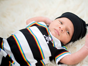 Rainbow Pirate Stripes Harem Romper