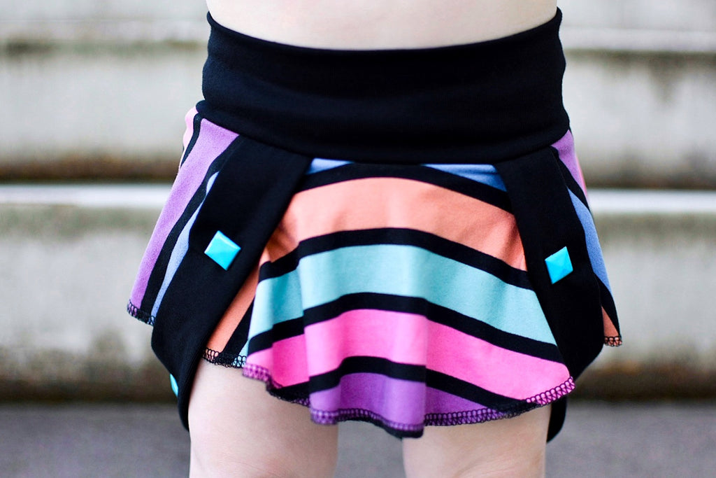 Cotton Candy Stripes Derby Skirt