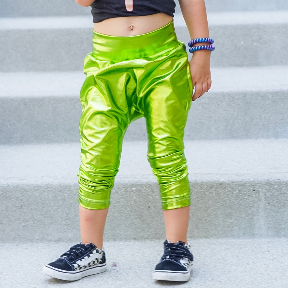 Extraterrestrial Green Space Metal Harem Pant