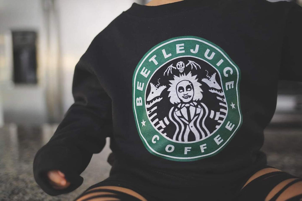 Beetlejuice Coffee Pullover Sweatshirt