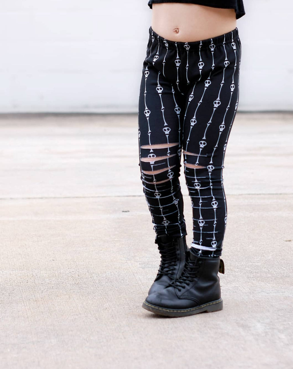 Skulls and Bones Stripe Leggings or Harems