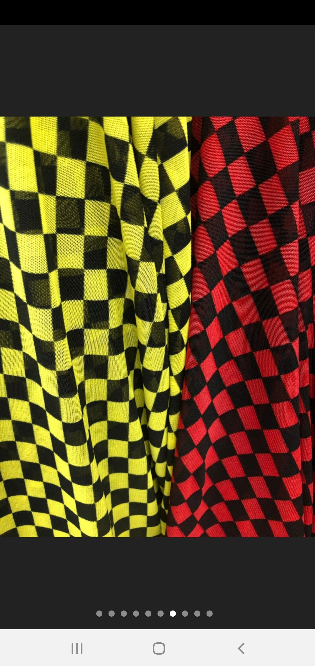 Black and Red Checkered Mesh Tee