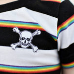 Rainbow Pirate Stripes Top