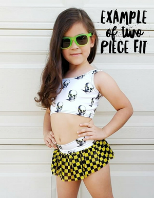 Crystal Skull Girls Swim Set