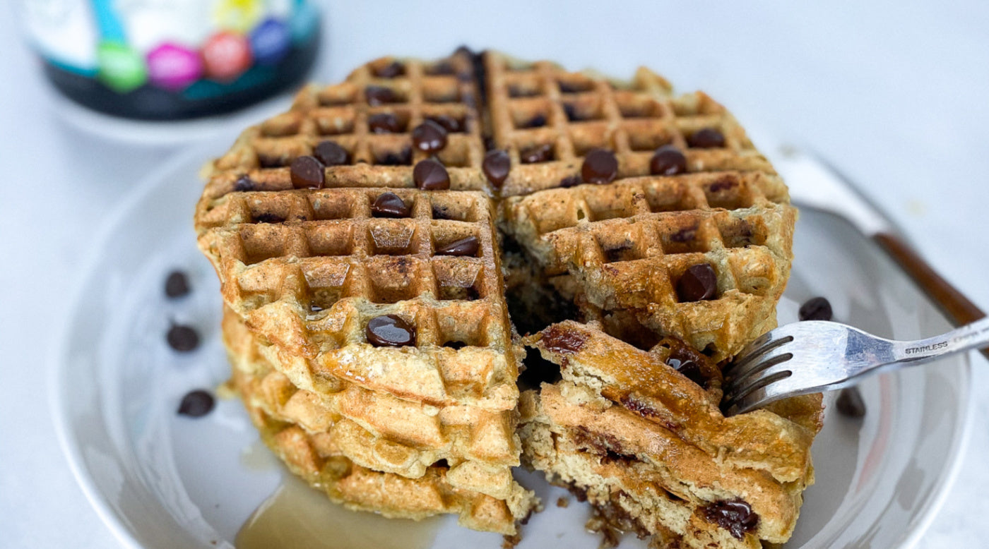 invigor8 chocolate chip waffles