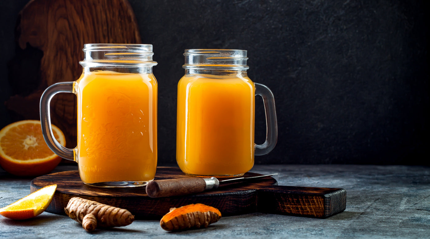 Carrot, orange and ginger juice