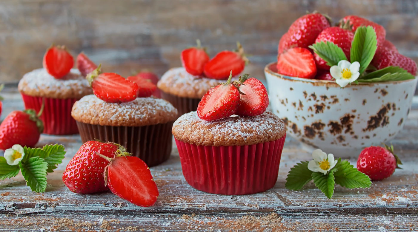 INVIGOR8 strawberry muffins