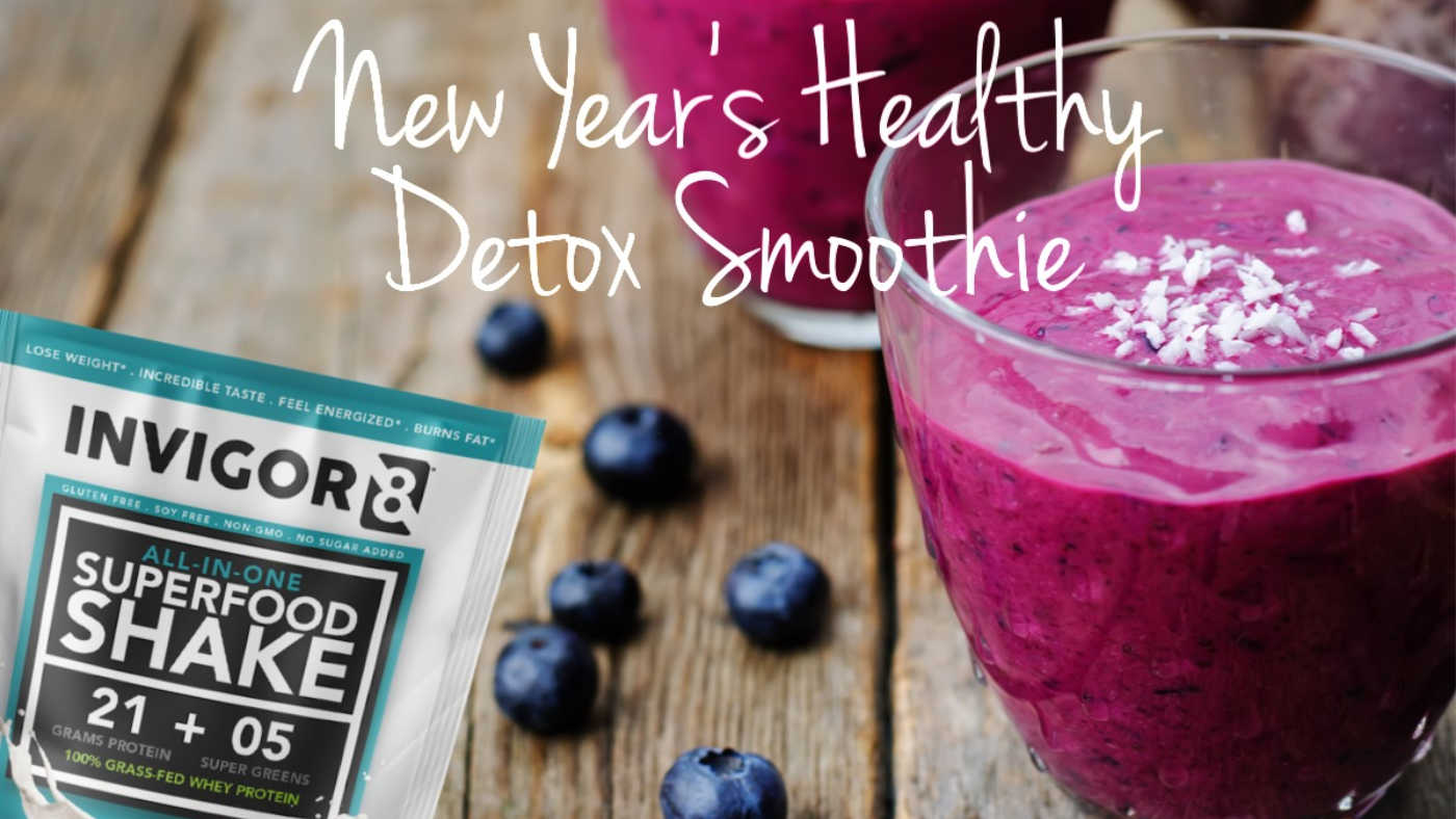 blueberry chia beet detox smoothie