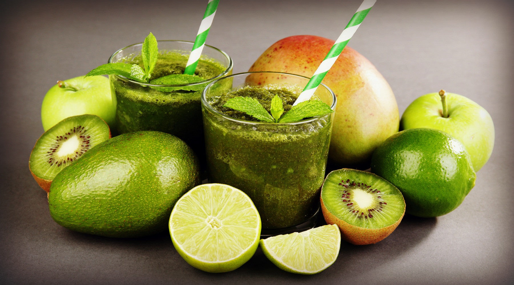 Mango avocado lime smoothie