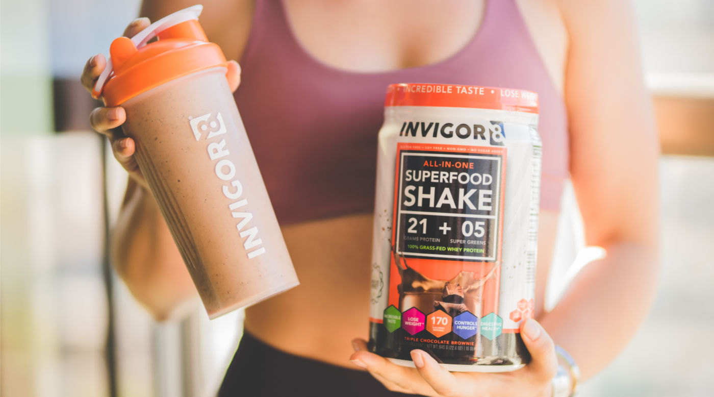 Invigor8 Superfood Shake with probiotics