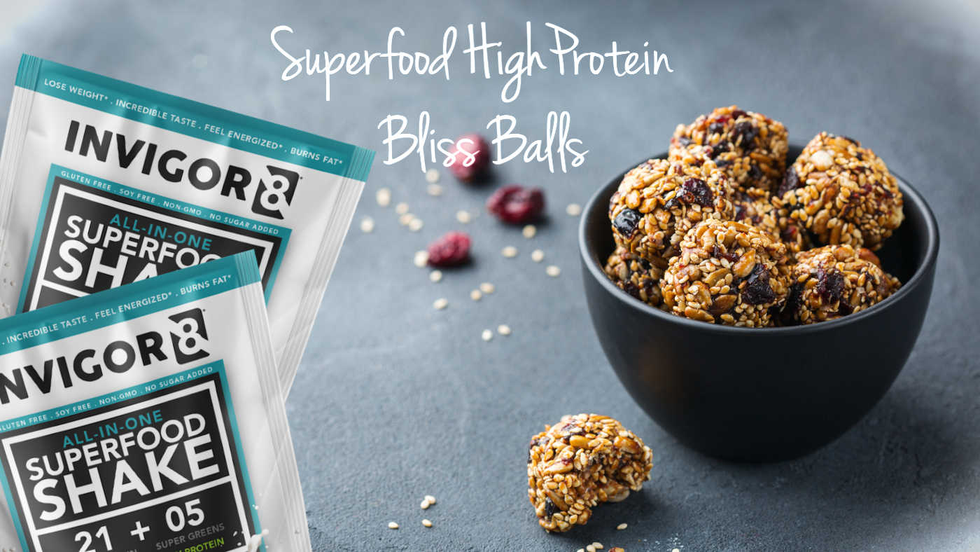 Invigor8 superfood protein bliss balls