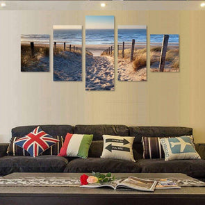 Beach Access Path - 5 Panel Canvas Art Set