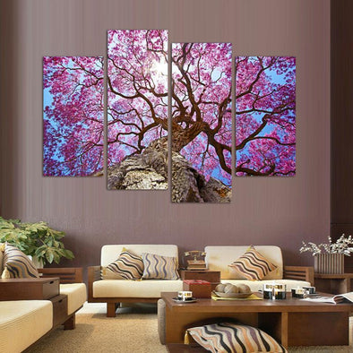 Blossoming Tree - 4 Panel Canvas Art Set