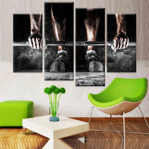 Body Building - 4 Panel Canvas Art Set