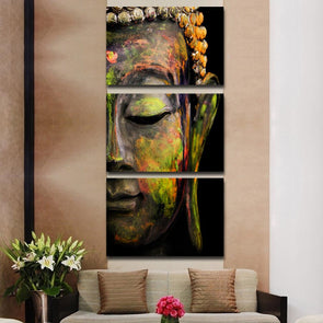 Buddha - 3 Panel Canvas Art Set