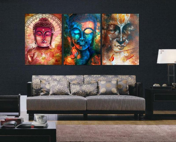 Buddha - 3 Piece Canvas Art Set
